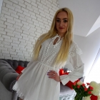 Biała boho sukienka