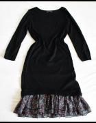 Atmosphere sukienka czarna z falbanką 38 M...