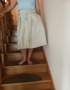 kremowa spodnica...