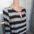 elegancka zwiewna bluzeczka w paski M
