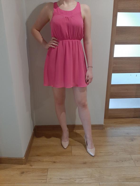 Sukienka różowa h&m...