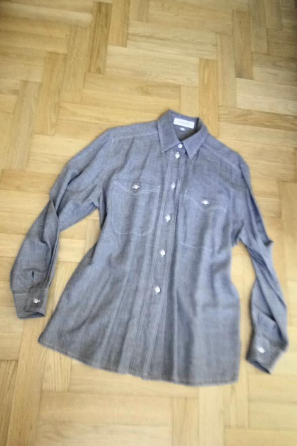 Elegancka koszula bluzka jedwab z bawełną 42 jak nowa...