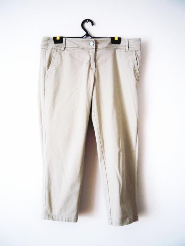 Spodenki Beżowe spodnie rybaczki spodnie vintage basic