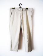 Beżowe spodnie rybaczki spodnie vintage basic...