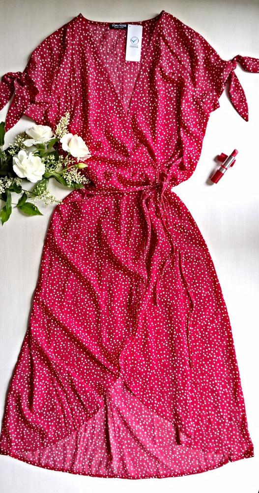 Nowa letnia sukienka w groszki vintage L XL