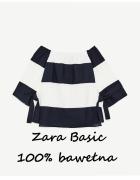 Bluzka Zara Basic bawełna paski...
