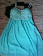 sukienka miętowa...