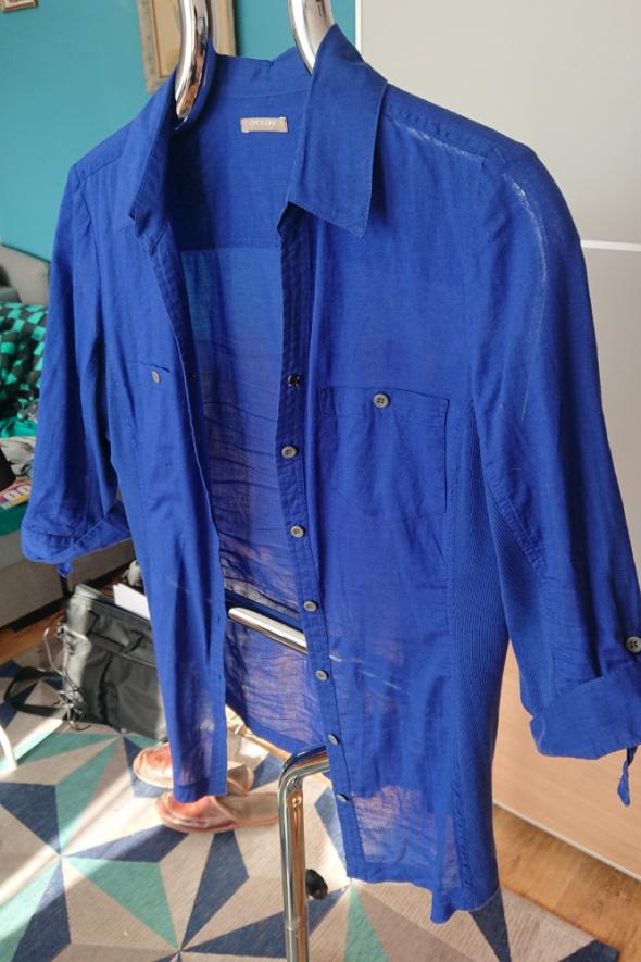 Koszula damska niebieska Orsay rękaw trzyczwarte...