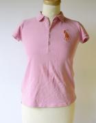 Koszulka Polo Różowa Ralph Lauren 16 lat 164 cm Bluzka...