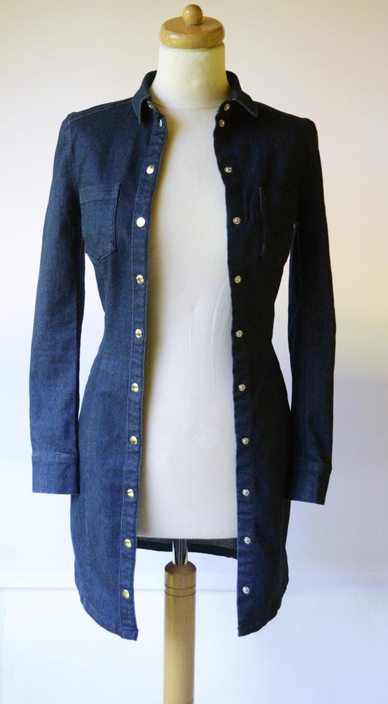 Sukienka Dżinsowa Jeansowa H&M XS 34 Dzins Jeans Granatowa...
