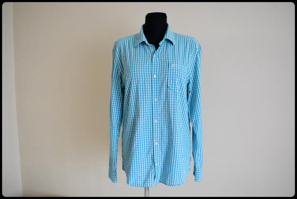 koszula biało niebieska XL i XXL drobna kratka regular fit...