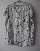 jedwabna bluzeczka w kwiaty...