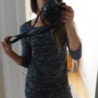 Szara dopasowana sukienka Bik Bok