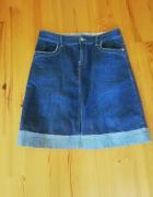 jeansowa spodnica...