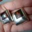 srebrne klipsy z bursztynami