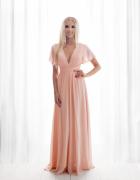 Śliczna długa sukienka różowa zielona chabrowa S M l xl...