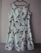 weselna miętowa sukienka...