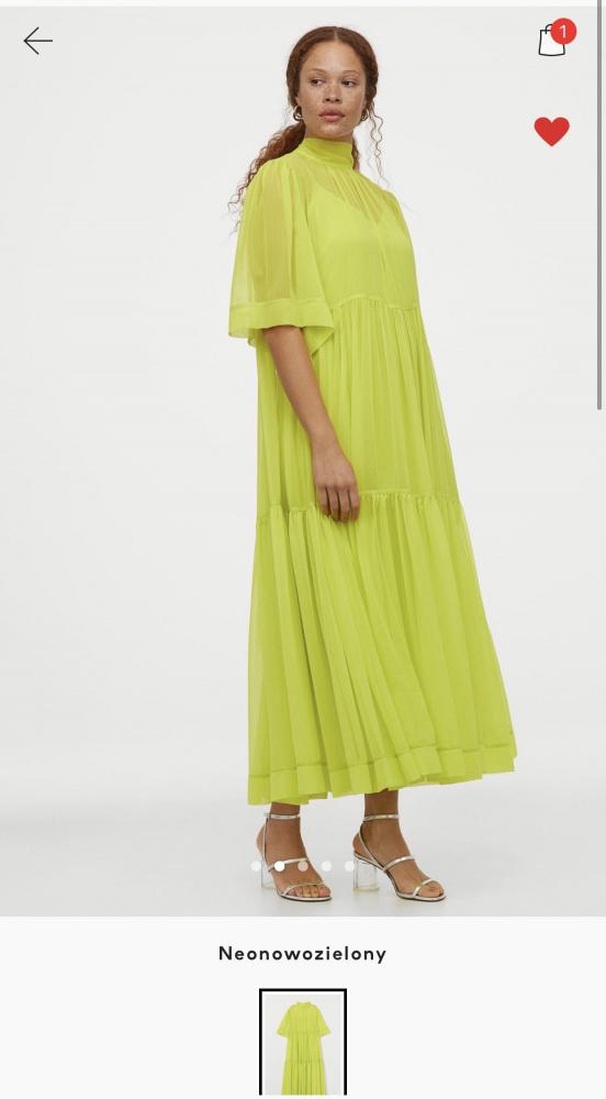 Sukienka neonowa h&m