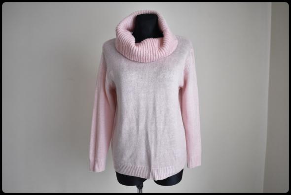 GOLF damski miękki sweter pudrowy róż pulower 40 L