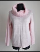 GOLF damski miękki sweter pudrowy róż pulower 40 L...