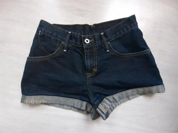 Spodenki Super HOT szorty jeans wysoki stan high waist