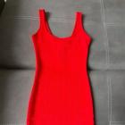Bodycon sexy sukienka czerwona bershka obcisła dopasowana HOT bandage bandażowa mini