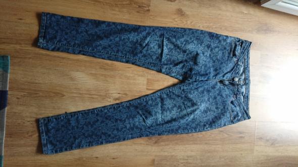 Spodnie jeansowe damskie wzorzyste w rozmiarze 42 L...