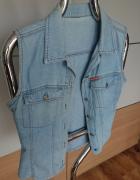 Kamizelka jeansowa z kołnierzykiem rozmiar M