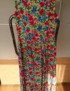 Sukienka w kwiaty PMB na guziki w rozmiarze L...