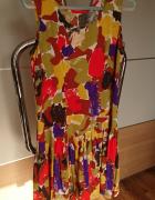 Sukienka w wielobarwne plamy rozmiar M...