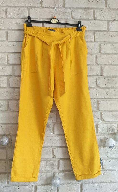 Letnie spodnie z lnu i wiskozy 42 44