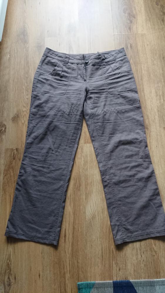 Spodnie Greenpoint damskie lniane w rozmiarze 42