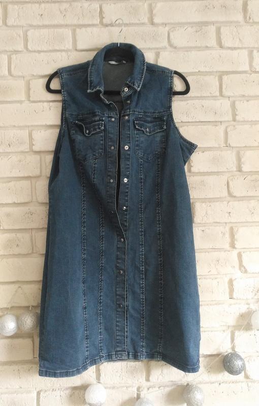 Jeansowa sukienka bez rękawów 16 44
