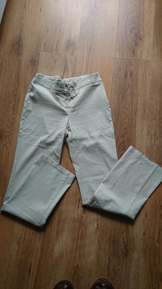 Spodnie damskie beżowe w rozmiarze 40