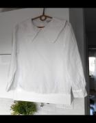 Zara biała bluzka kołnierzyk collar...