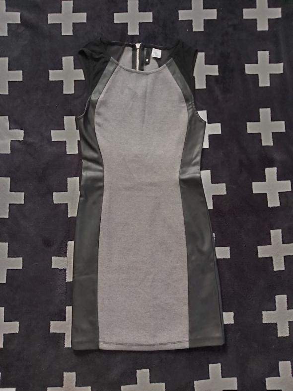 Szaro czarna sukienka H&M rozmiar XS...