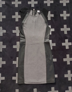 Szaro czarna sukienka H&M rozmiar XS