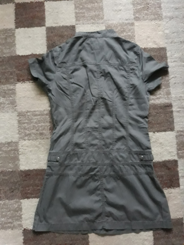 Sukienka tunika ciemnozielona khaki