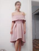 koktajlowa pudrowo różowa sukienka ASOS