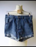 Spodenki Jeansowe Wyższy Stan H&M L 40 Dżinsowe...