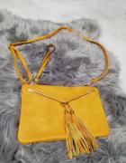 kopertowa żółta torebka...