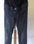 Spodnie H&M Mama Szare Skinny S 36 Ciążowe Rurki Dżinsy...