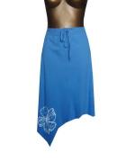 Letnia Niebieska Spódnica M L Bawełna