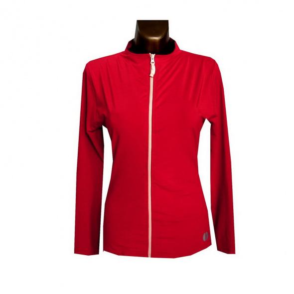 Bluzy Czerwona Bluza Dresowa 38 40