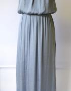 Sukienka Long Maxi H&M Niebieska Rozkloszowana M 38...