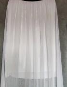 Biała długa spódnica z podszewką...
