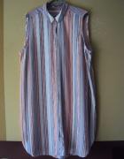 koszulowa sukienka w paseczki...