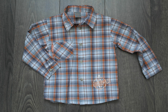 Koszula krata długi rękawek 92