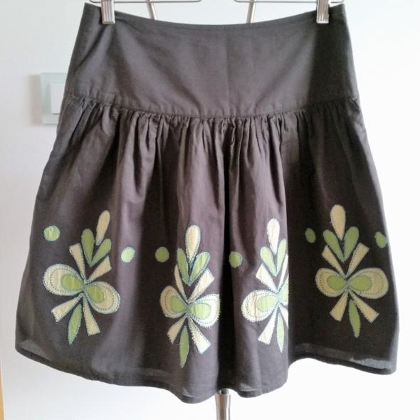 Spódnice PROMOD S M zielona spódniczka
