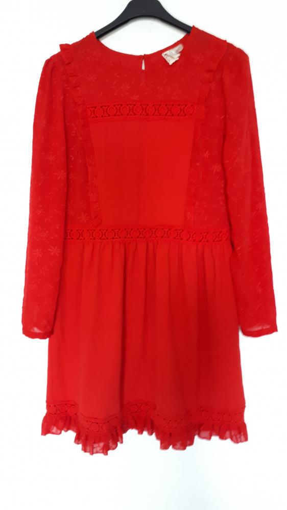 H&M czerwona sukienka...